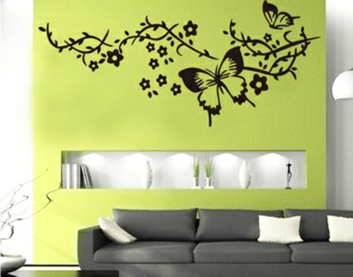 wandtattoo muster f r jeden geschmack 28 coole. Black Bedroom Furniture Sets. Home Design Ideas