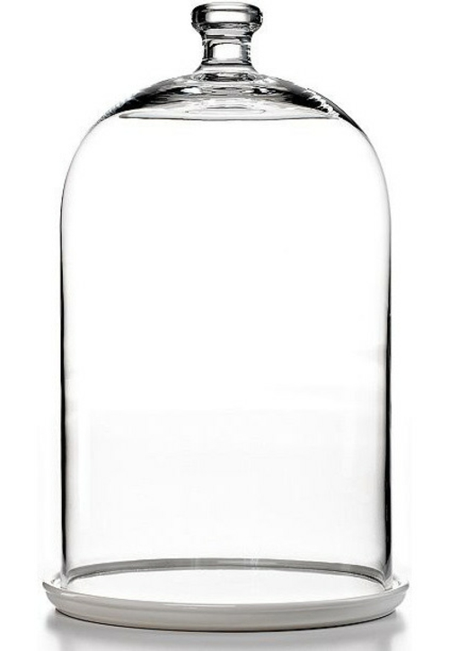 wohnaccessoires elegante gläserne käseglocke