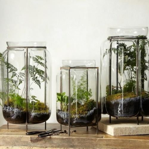 wohnaccessoires glas pflanzenbehälter