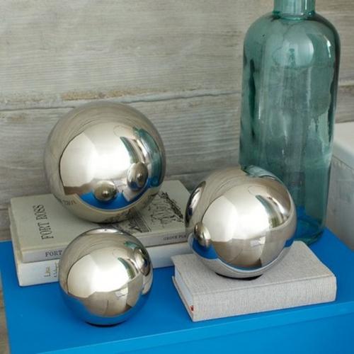 wohn accessoires spiegelblanke kugeln