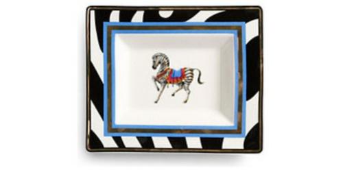wohnaccessoires tellerkunst mit zebra