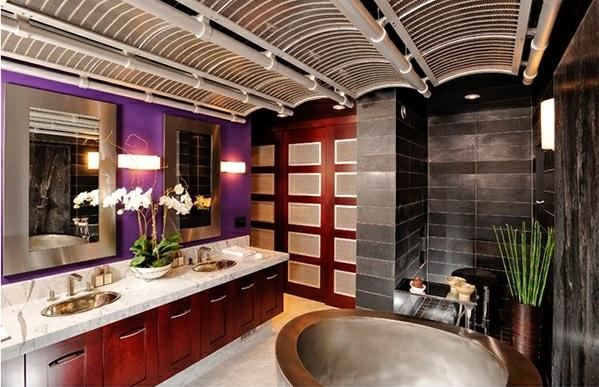 Badezimmer aus Asien badewanne abgehägt decke