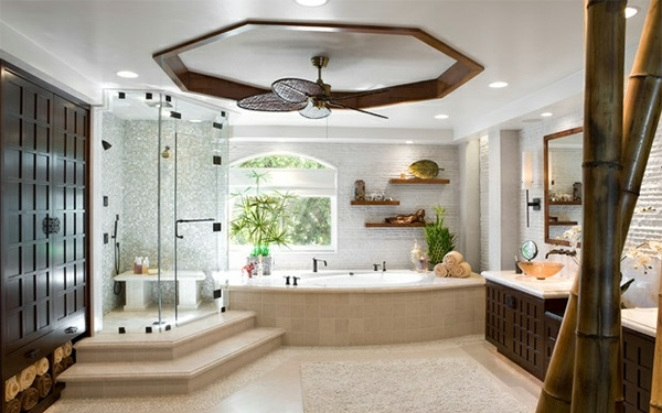 Badezimmer Asien regale lüfter