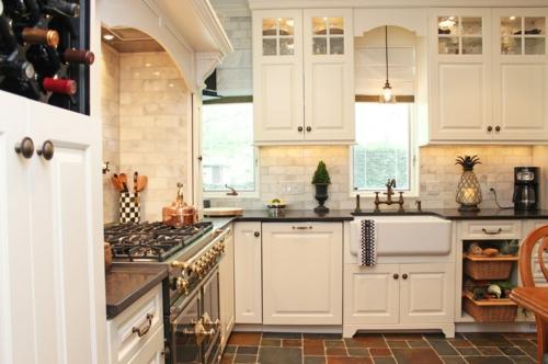Bastelideen für alte Küchenschränke fenster spüle rustikal