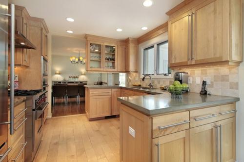 Bastelideen für alte Küchenschränke traditionell küche warm ambiente
