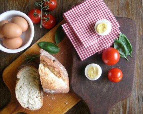 Baumwollstoff und Vintage Stil brott tomaten