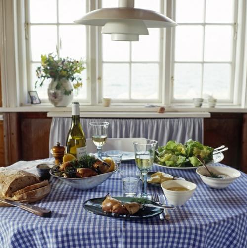 Baumwollstoff Vintage Stil esstisch speisen tischdecke