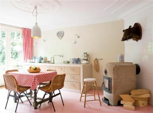 Baumwollstoff  Vintage Stil esszimmer tisch stühle