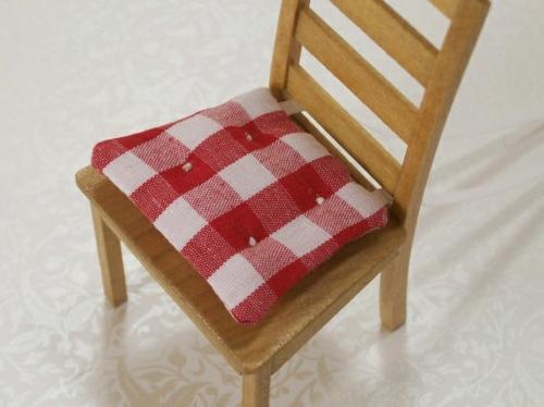 Baumwollstoff und Vintage Stil hol stuhl rot auflage