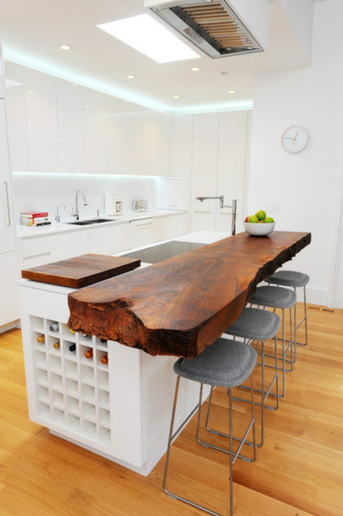 Bilder mit Einrichtungsideen küche tisch arbeitsplatte minimalistisch