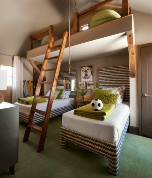 Bilder mit Einrichtungsideen kinderzimmer hochbett treppe