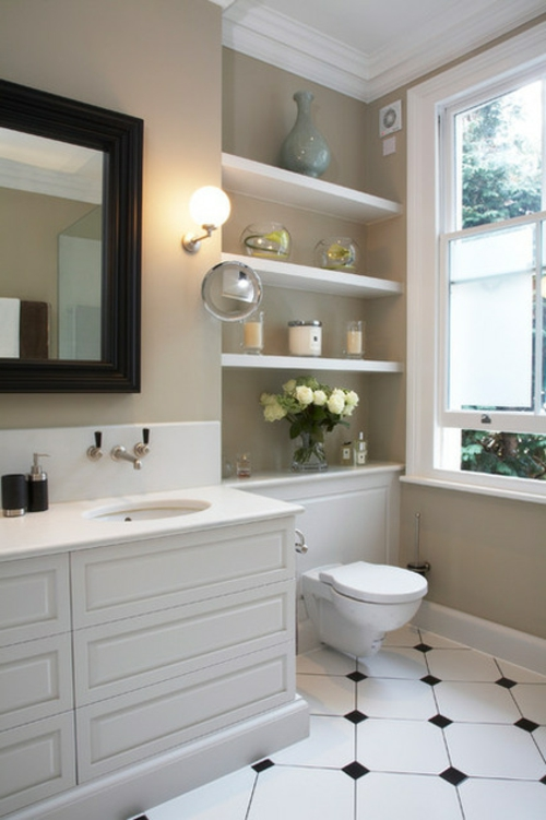 Bilder mit Einrichtungsideen regale waschbecken vase