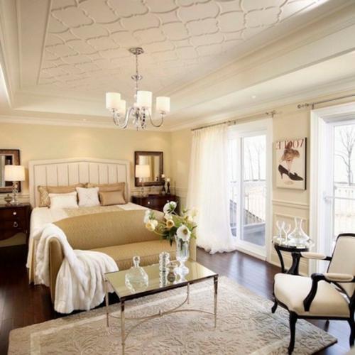 Bilder mit Einrichtungsideen schlafzimmer sessel tisch glas