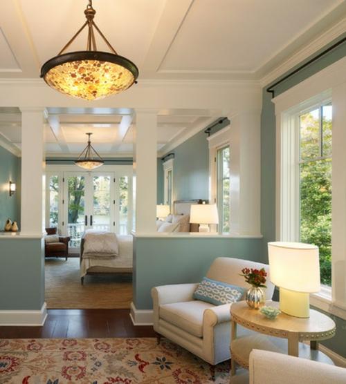 Bilder mit Einrichtungsideen wohnzimmer sessel tischlampe nebentisch