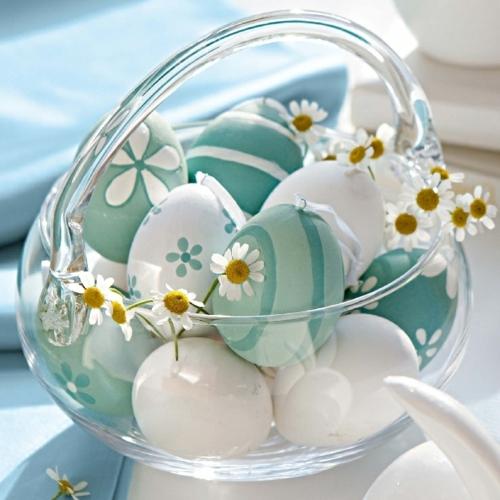 Ostereier basteln und bemalen blüten
