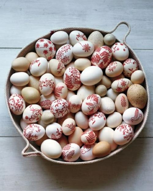 Ostereier basteln und bemalen platte