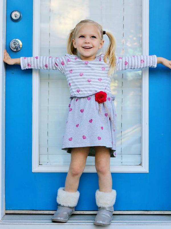 DIY Deko zum Valentinstag kleid kinder