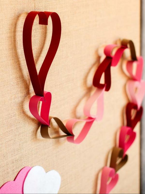 DIY Deko zum Valentinstag papier girlande