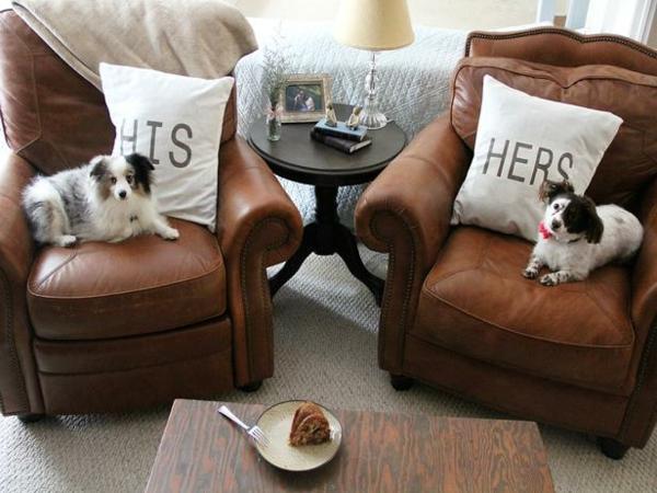 DIY Deko zum Valentinstag wurfkissen hunde