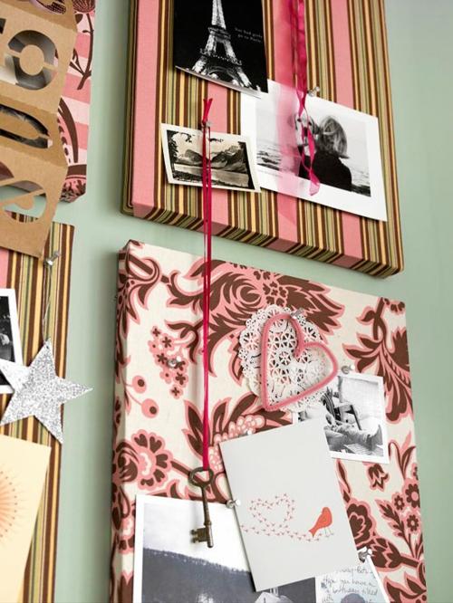 DIY Dekoartikel zum Valentinstag herzformen bilderrahmen leinwand