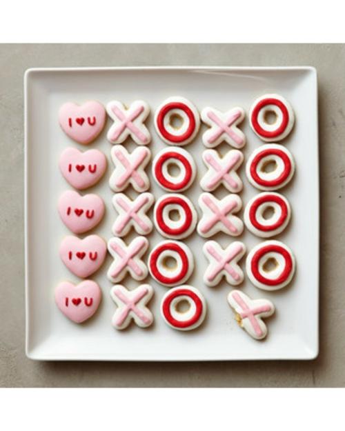 DIY Dekoartikel zum Valentinstag plätzchen cookies XOXO