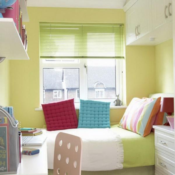 Das Schlafzimmer komplett gestalten grüne gelbe blau rot farben