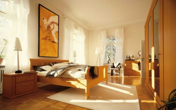 Das Schlafzimmer komplett orange motive sonnenlicht