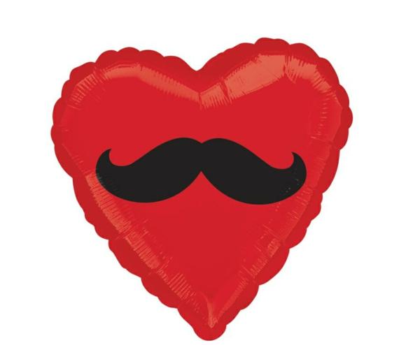 Dekoideen zum Valentinstag ballone herzen schnurrbart