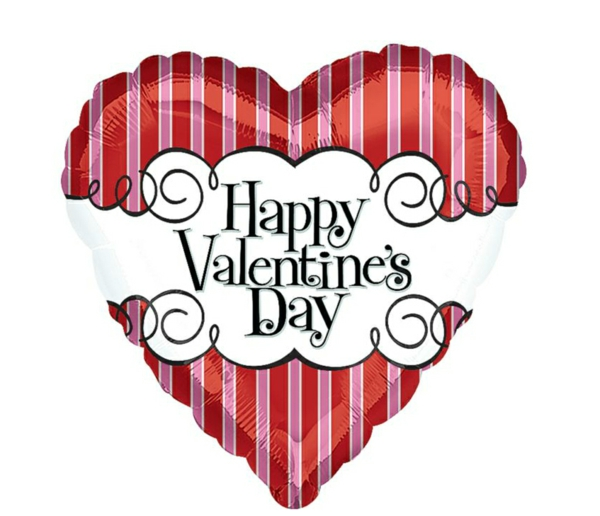 Dekoideen zum Valentinstag ballone schlagzeile