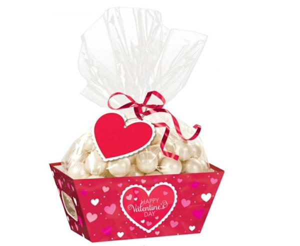 Dekoideen zum Valentinstag geschenk praline