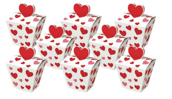 Dekoideen zum Valentinstag verpackung  cookies