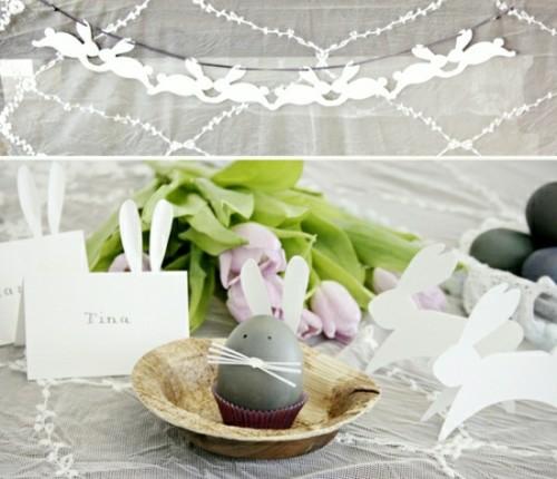 Osterhase als Dekoration an Ostern festlich