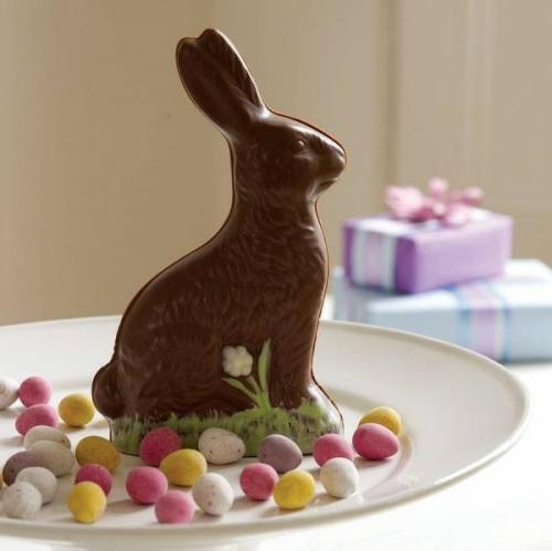 Der Osterhase als Dekoration an Ostern schokolade