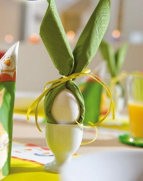 Der Osterhase als Dekoration an Ostern serviette