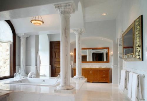 Die Holztür sanieren eingangstür marmor luxus weiß säulen