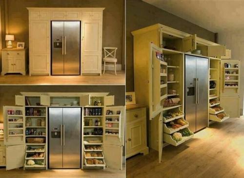 Die Speisekammer anordnen korb arbeitsplatten kühlschrank modern
