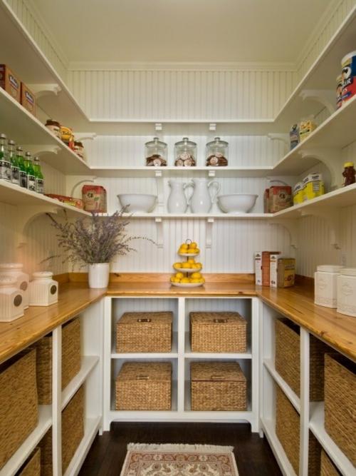 Die Speisekammer ordnen korb holz arbeitsplatten küche