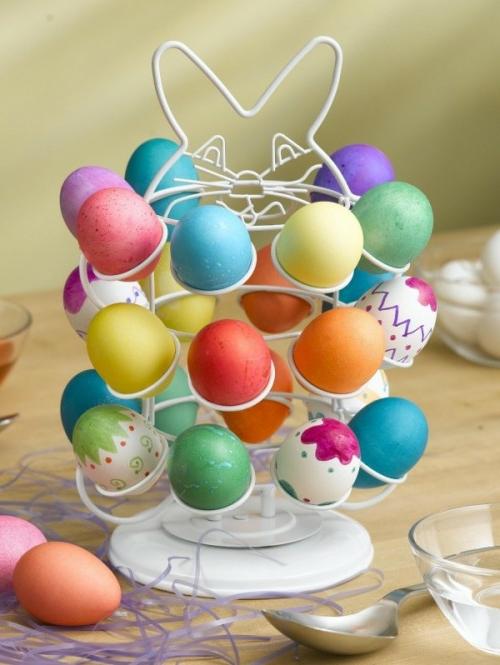 Eierhalter Ständer zu Ostern basteln baumkrone eier