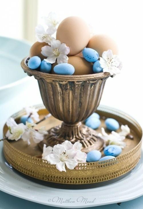 Eierhalter Ständer zu Ostern basteln korb