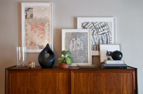 Sideboards & Kommoden für Wohnzimmer bilderrahmen weiß