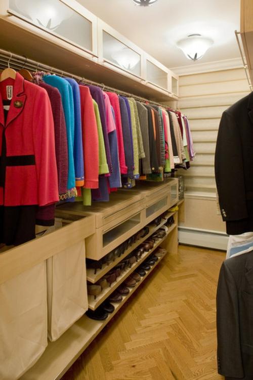 Einrichtungsideen für Wandschrank ankleideraum bunt