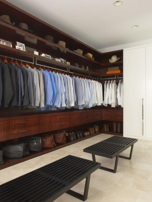 Einrichtungsideen für Wandschrank ankleideraum hemde männer
