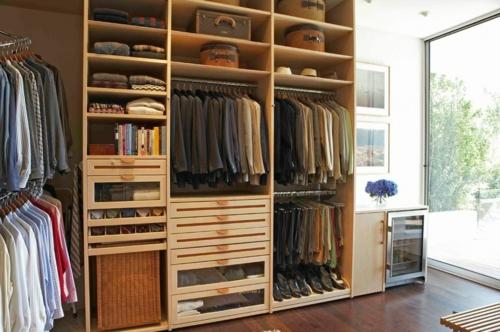Einrichtungsideen für Wandschrank ankleideraum maskulin