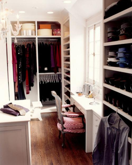 Einrichtungsideen für Wandschrank ankleideraum schminktisch