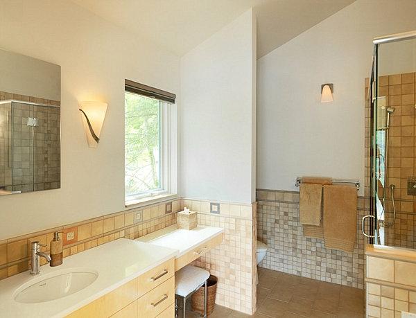 Einrichtungsideen für kleine Hütten klein badezimmer fliesen