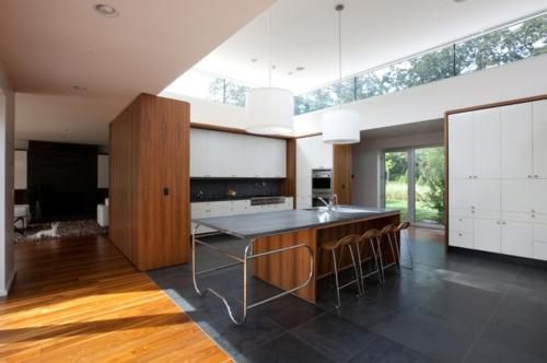 Einrichtungsideen offene Räume holz esszimmer küchenarbeitsplatte