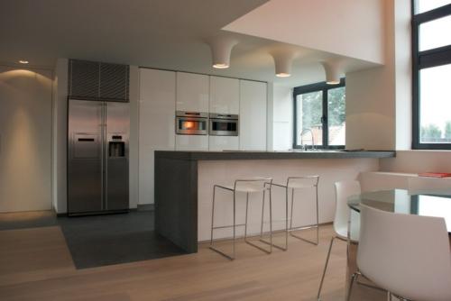 Einrichtungsideen küche  15 Einrichtungsideen für offene Räume -einen Raum ohne Wände gestalten
