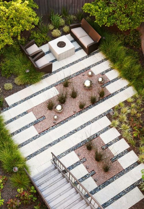 Einrichtungsideen für offene Räume von oben garten hof pflanzenbau