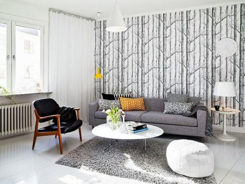 Einrichtungsideen für schwedische Wohndeko couchtisch sofa