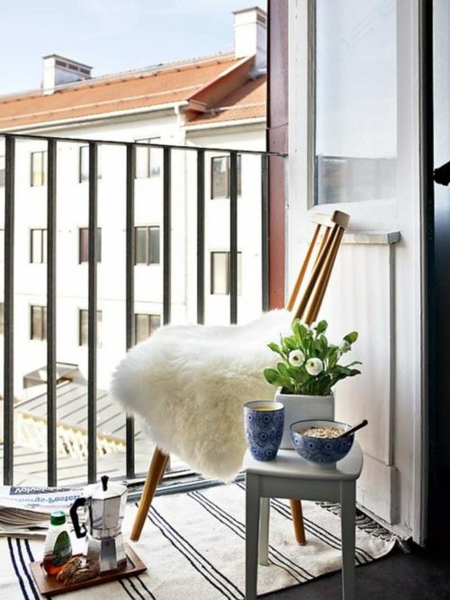 Einrichtungsideen schwedische Wohndeko hocker topf